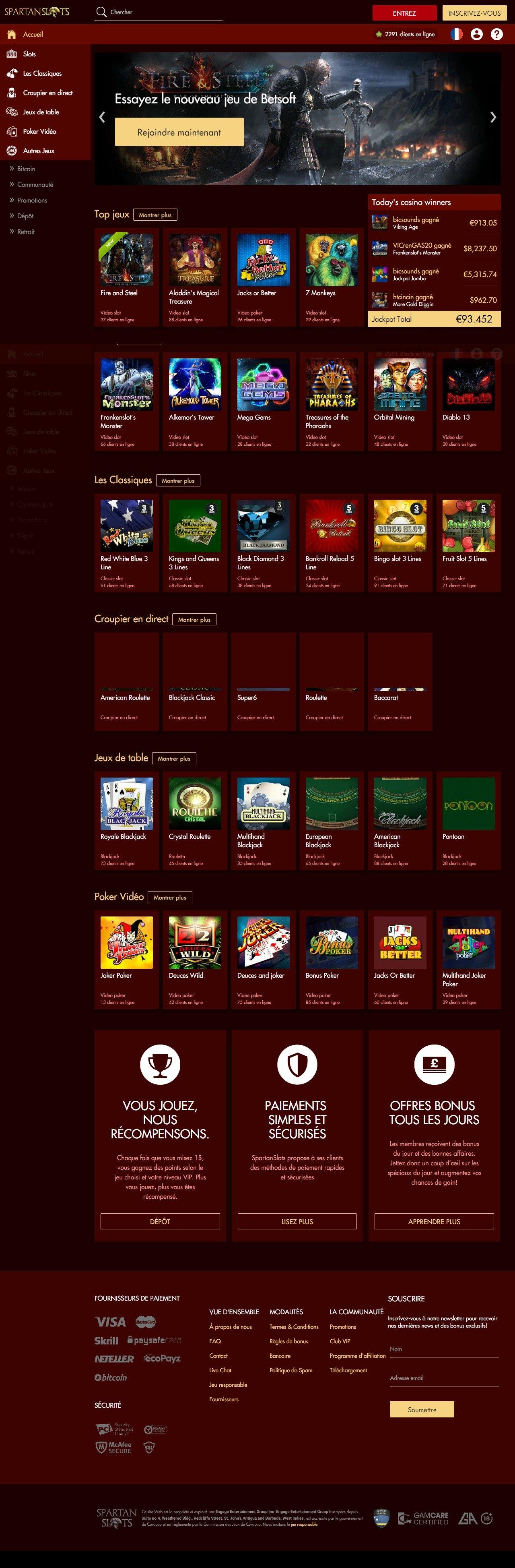 DECKAFFILIATESpartanSlots Best Casino Bonuses