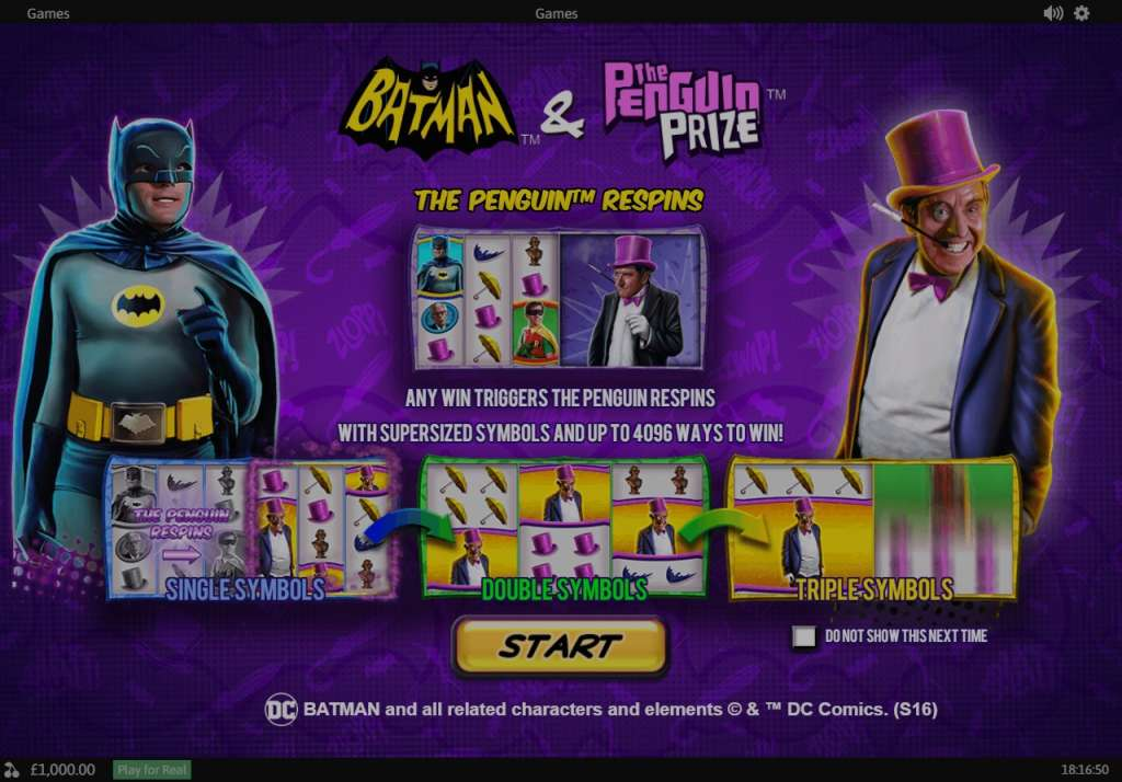 CASINOMANSIONPlaytech Batman & Penguin Prize